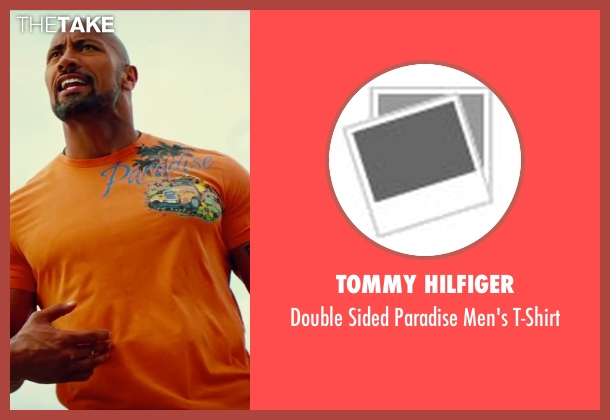 Tommy Hilfiger orange t-shirt from Pain & Gain seen with Dwayne Johnson (Paul Doyle)