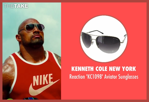 Kenneth Cole New York silver sunglasses from Pain & Gain seen with Dwayne Johnson (Paul Doyle)