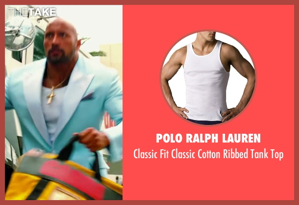 Polo Ralph Lauren white top from Pain & Gain seen with Dwayne Johnson (Paul Doyle)