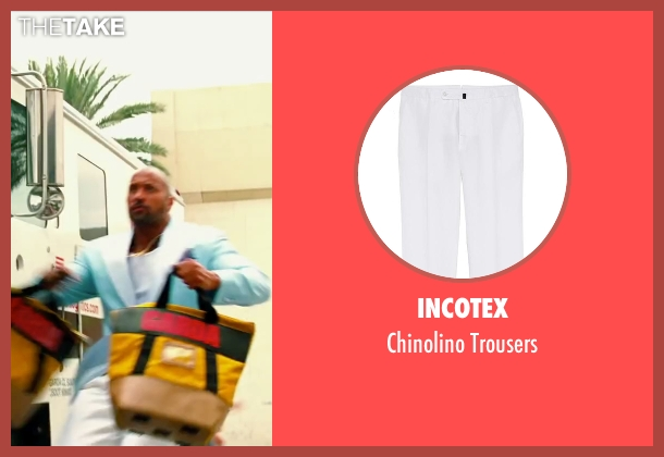 Incotex white trousers from Pain & Gain seen with Dwayne Johnson (Paul Doyle)