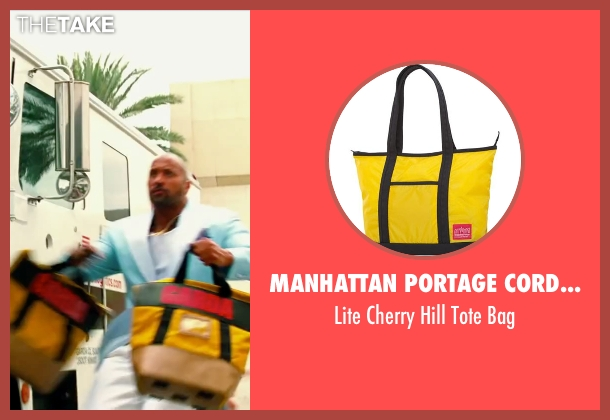 Manhattan Portage Cordura yellow bag from Pain & Gain seen with Dwayne Johnson (Paul Doyle)