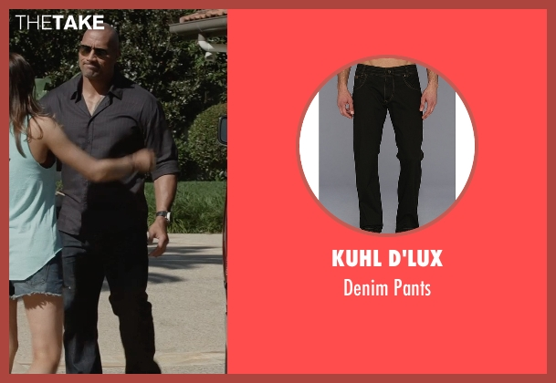 Kuhl D'lux black pants from San Andreas seen with Dwayne Johnson (Ray)