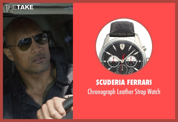 Scuderia Ferrari black watch from San Andreas seen with Dwayne Johnson (Ray)