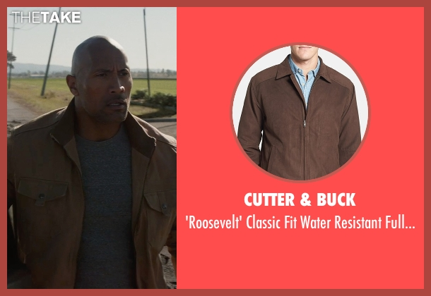 Cutter & Buck brown jacket from San Andreas seen with Dwayne Johnson (Ray)