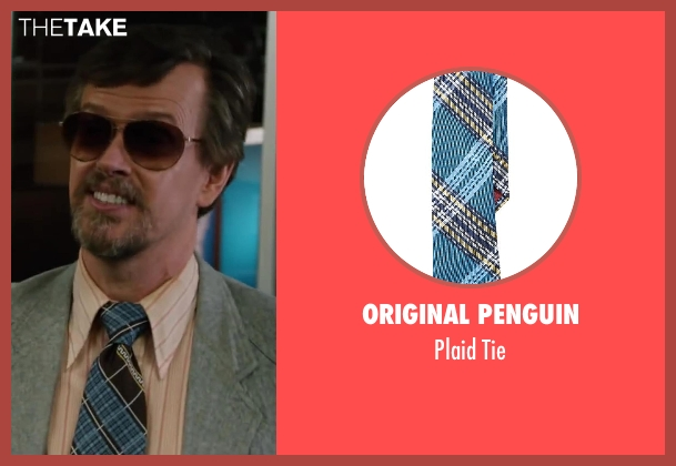 Original Penguin blue tie from Anchorman 2: The Legend Continues seen with Dylan Baker (Freddie Shapp)
