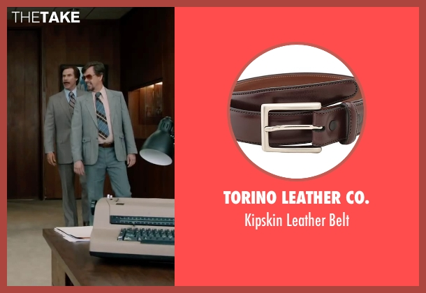 Torino Leather Co. brown belt from Anchorman 2: The Legend Continues seen with Dylan Baker (Freddie Shapp)