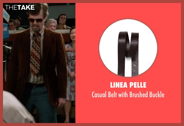 Linea Pelle brown buckle from Anchorman 2: The Legend Continues seen with Dylan Baker (Freddie Shapp)