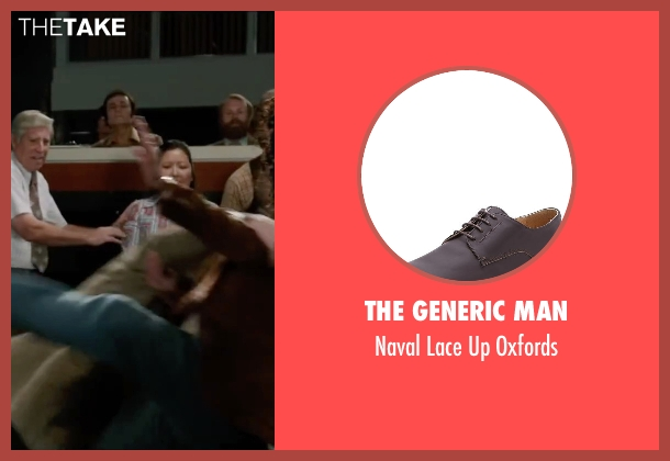 The Generic Man brown oxfords from Anchorman 2: The Legend Continues seen with Dylan Baker (Freddie Shapp)