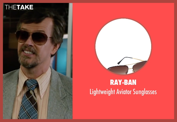 Ray-Ban brown sunglasses from Anchorman 2: The Legend Continues seen with Dylan Baker (Freddie Shapp)