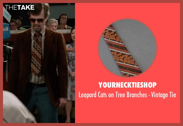 Yournecktieshop brown tie from Anchorman 2: The Legend Continues seen with Dylan Baker (Freddie Shapp)
