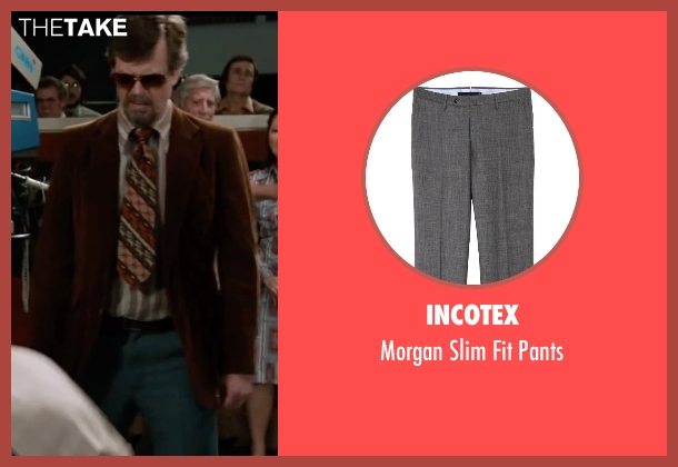 Incotex gray pants from Anchorman 2: The Legend Continues seen with Dylan Baker (Freddie Shapp)