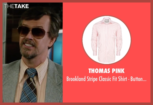 Thomas Pink pink cuff from Anchorman 2: The Legend Continues seen with Dylan Baker (Freddie Shapp)