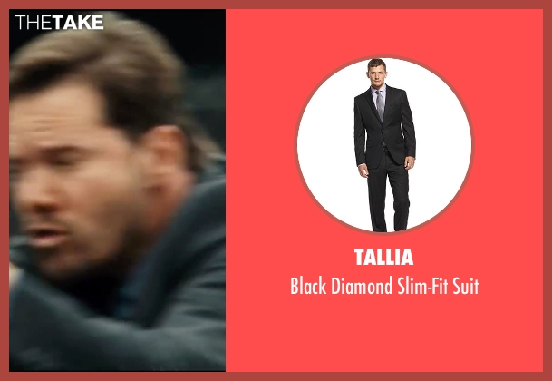 Tallia black suit from Taken 3 seen with Dylan Bruno (Smith)