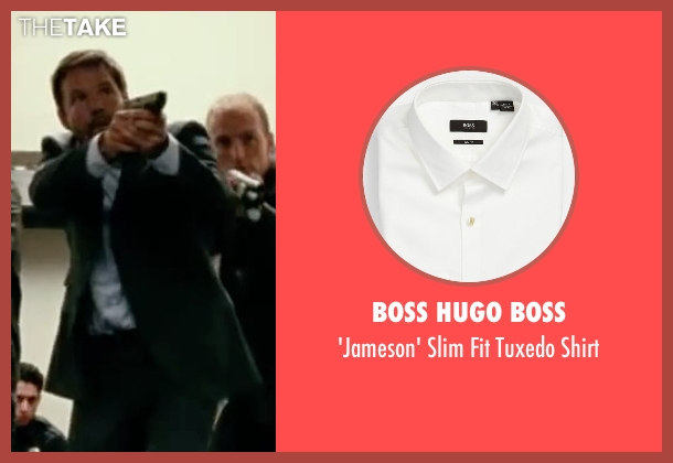 Boss Hugo Boss white shirt from Taken 3 seen with Dylan Bruno (Smith)