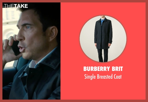 Burberry Brit black coat from Survivor seen with Dylan McDermott (Sam Parker)
