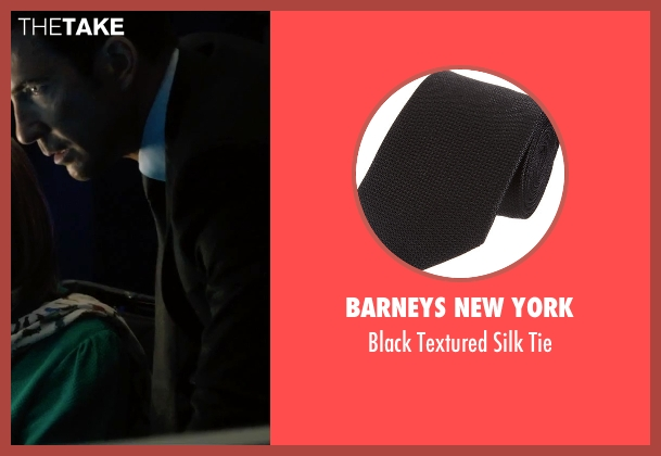 Barneys New York black tie from Survivor seen with Dylan McDermott (Sam Parker)