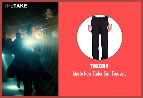 Theory black trousers from Survivor seen with Dylan McDermott (Sam Parker)