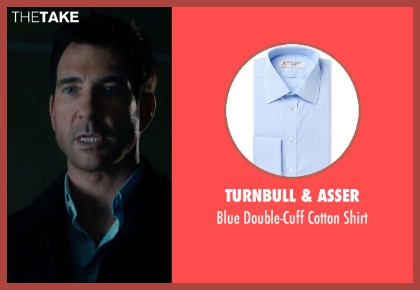 Turnbull & Asser blue shirt from Survivor seen with Dylan McDermott (Sam Parker)