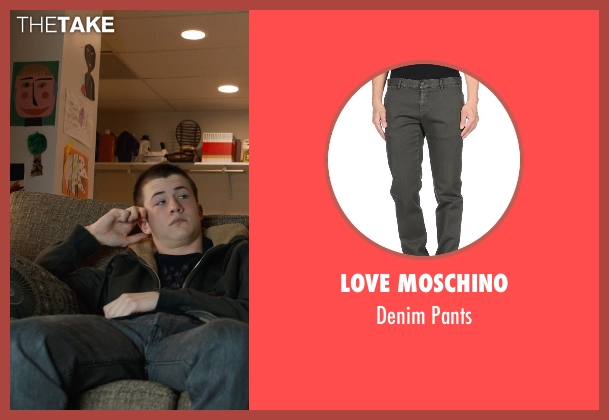 Love Moschino gray pants from Prisoners seen with Dylan Minnette (Ralph Dover)