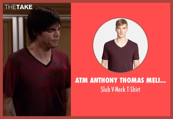 ATM Anthony Thomas Melillo red t-shirt from Modern Family seen with Dylan (Reid Ewing)
