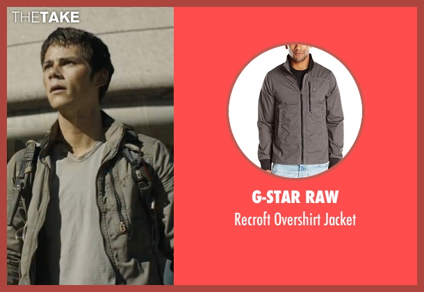 G-Star Raw gray jacket from Maze Runner: The Scorch Trials seen with Dylan O'Brien (Thomas)