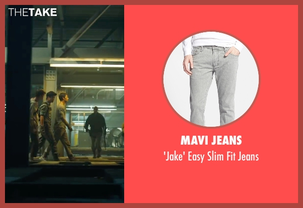 Mavi Jeans gray jeans from Maze Runner: The Scorch Trials seen with Dylan O'Brien (Thomas)