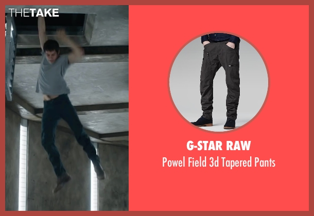 G-Star Raw gray pants from Maze Runner: The Scorch Trials seen with Dylan O'Brien (Thomas)
