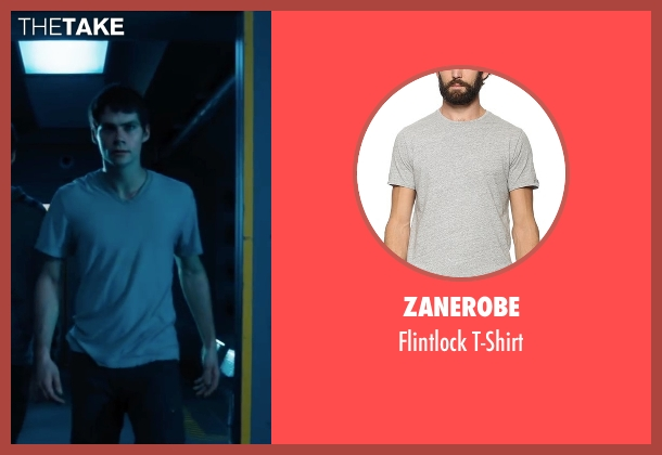 Zanerobe gray t-shirt from Maze Runner: The Scorch Trials seen with Dylan O'Brien (Thomas)