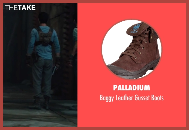 Palladium brown boots from The Maze Runner seen with Dylan O'Brien (Thomas)