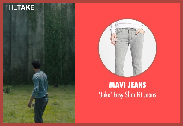 Mavi Jeans gray jeans from The Maze Runner seen with Dylan O'Brien (Thomas)