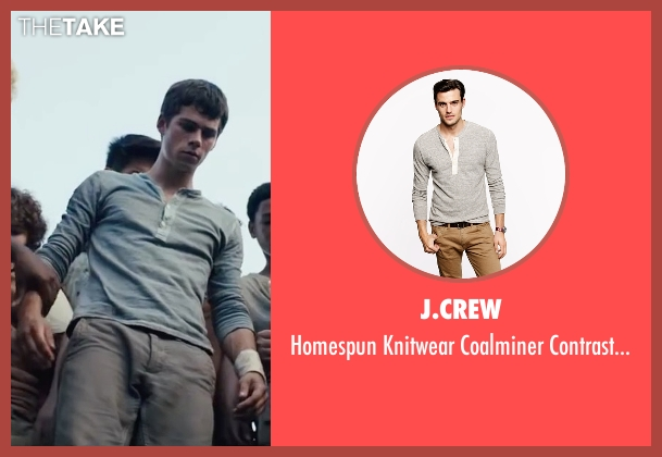 J.Crew gray shirt from The Maze Runner seen with Dylan O'Brien (Thomas)