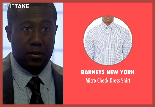 Barneys New York white shirt from Need for Speed seen with E. Roger Mitchell (Detective #1)