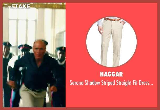 Haggar beige pants from Pain & Gain seen with Ed Harris (Ed DuBois)