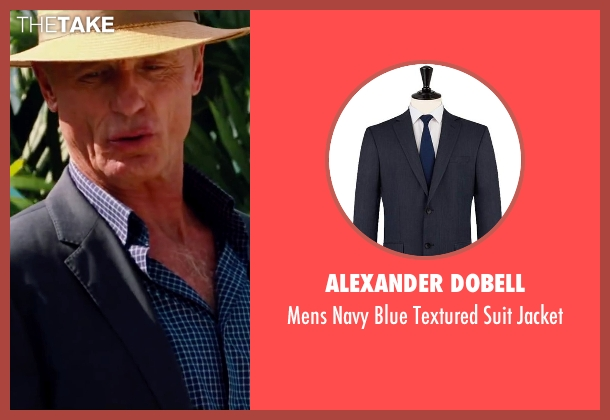 Alexander Dobell blue jacket from Pain & Gain seen with Ed Harris (Ed DuBois)