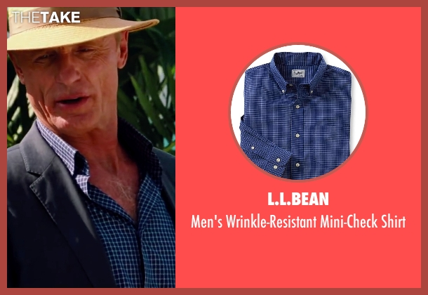 L.L.Bean blue shirt from Pain & Gain seen with Ed Harris (Ed DuBois)