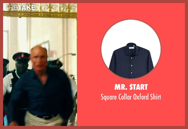 Mr. Start blue shirt from Pain & Gain seen with Ed Harris (Ed DuBois)