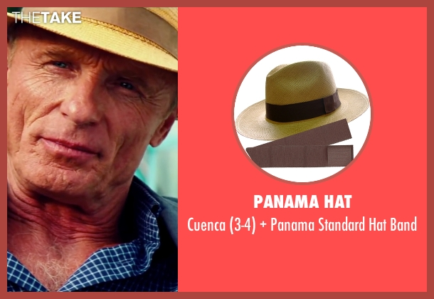 Panama Hat brown band from Pain & Gain seen with Ed Harris (Ed DuBois)