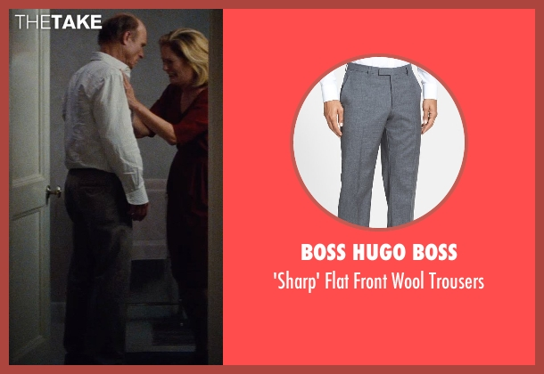 Boss Hugo Boss gray trousers from Run All Night seen with Ed Harris (Shawn Maguire)