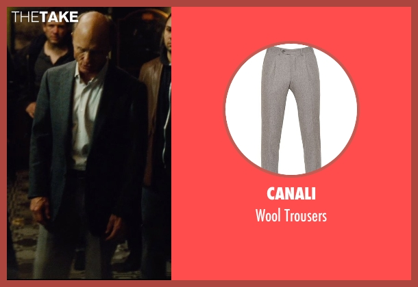 Canali gray trousers from Run All Night seen with Ed Harris (Shawn Maguire)