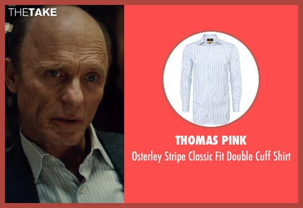 Thomas Pink white shirt from Run All Night seen with Ed Harris (Shawn Maguire)