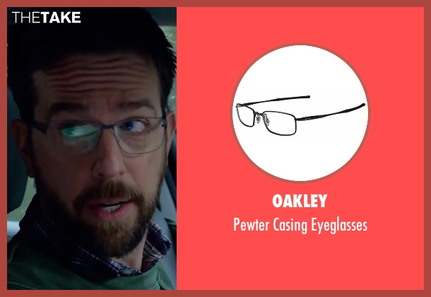 Oakley black eyeglasses from Bastards seen with Ed Helms (Peter Reynolds)