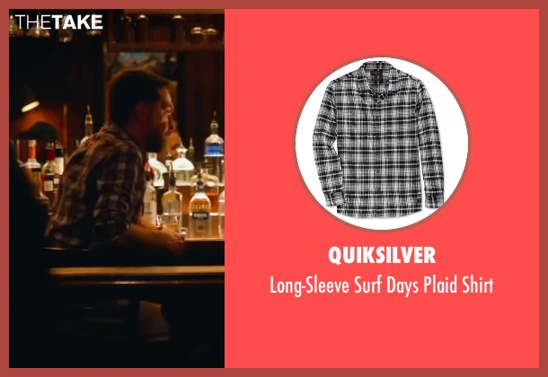 Quiksilver black shirt from Bastards seen with Ed Helms (Peter Reynolds)