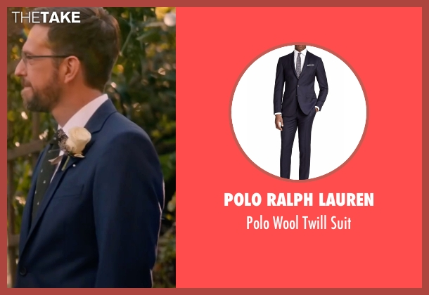 Polo Ralph Lauren blue suit from Bastards seen with Ed Helms (Peter Reynolds)