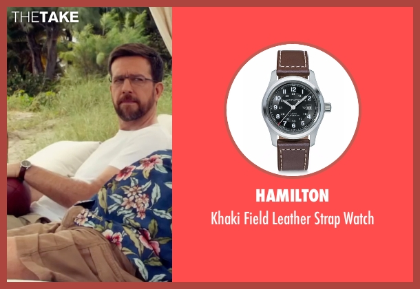 Hamilton brown watch from Bastards seen with Ed Helms (Peter Reynolds)