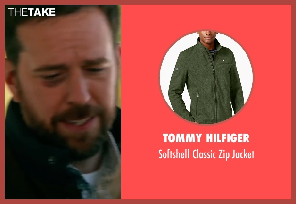 Tommy Hilfiger green jacket from Bastards seen with Ed Helms (Peter Reynolds)