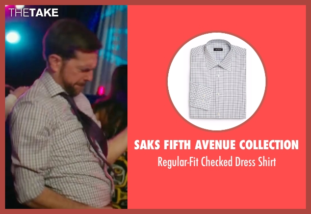 Saks Fifth Avenue Collection white shirt from Bastards seen with Ed Helms (Peter Reynolds)