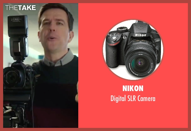 Nikon camera from Love the Coopers seen with Ed Helms (Hank)