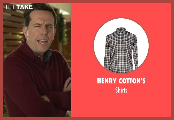Henry Cotton's gray shirts from Love the Coopers seen with Ed Helms (Hank)