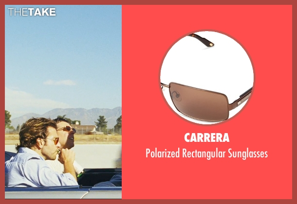 Carrera brown sunglasses from The Hangover seen with Ed Helms (Stu)
