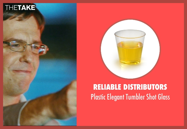 Reliable Distributors glass from The Hangover seen with Ed Helms (Stu)